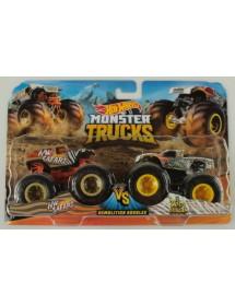 Pack 2 Carros Monster Trucks - HW Safari Vs. Wild Streak