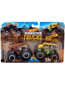 Pack 2 Carros Monster Trucks - HotWeiler Vs. Hound Hauler