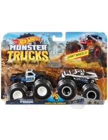 Pack 2 Carros Monster Trucks - Police Vs. Hooligan