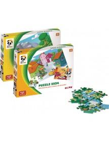 Puzzle Duplo 24 Peças - Panda (Sortido)