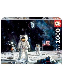 Puzzle 1000 Peças - First Men On The Moon