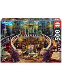 Puzzle 500 Peças - Biblioteca Enigmatic Puzzle