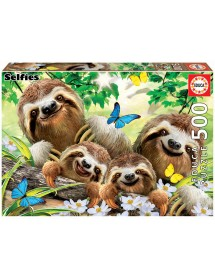 Puzzle 500 Peças - Família de Preguiças