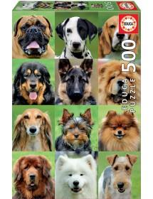 Puzzle 500 Peças - Colagem de Cães