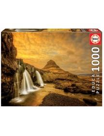 Puzzle 1000 Peças - Cascata de Kirkjufellsfoss, Islândia