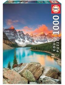 Puzzle 1000 Peças - Lago Moraine, Banff National Park, Canadá