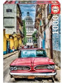 Puzzle 1000 Peças - Carro Antigo em Havana