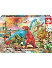 Puzzle 100 Peças - Dinossauros