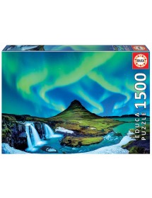 Puzzle 1500 Peças - Aurora Boreal Islândia