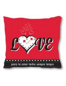 """Almofada Vermelha """"Love"""" (40cmx40cm)"""