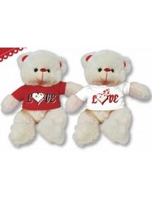 """Peluche - Urso Com Camisola """"Love"""" (Sortido) - Vários Tamanhos"""