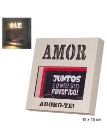 """Moldura Com Luz """"Amor"""""""