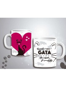 Caneca Branca - Gatos