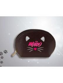 Porta-Moedas Oval Pequeno - Gato