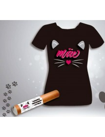 T-Shirt Preta - Gato (Vários Tamanhos)
