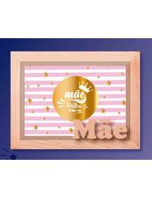 """Moldura Caixa de Madeira """"Mãe Brilha"""""""
