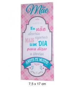 """Placa de Vidro """"Mãe"""""""