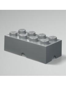 Caixa de Arrumação Cinzenta Escura - 8 Brick