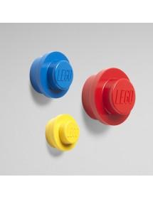 Conjunto de Cabides de Parede LEGO® - Vermelho, Azul, Amarelo