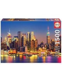 Puzzle 1500 Peças - Manhattan à Noite