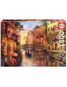 Puzzle 1500 Peças - Entardecer em Veneza