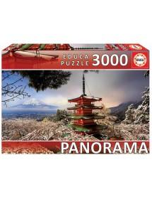 Puzzle 3000 Peças - Monte Fuji e Pagode, Japão (Panorama)