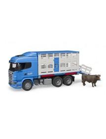 Scania Transporte de Gado Com Animal