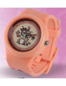Relógio - Jolly Candy Com Guloseimas, Castanho e Rosa