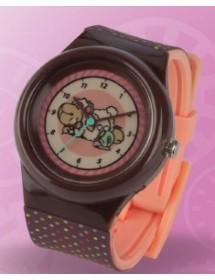 Relógio - Jolly Candy Deitada, Rosa e Castanho