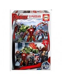 Puzzle Duplo 100 Peças - Avengers
