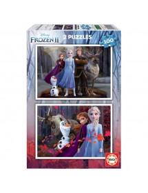Puzzle Duplo 100 Peças - Frozen II