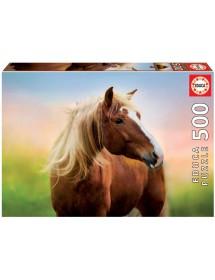 Puzzle 500 Peças - Cavalo no Amanhecer