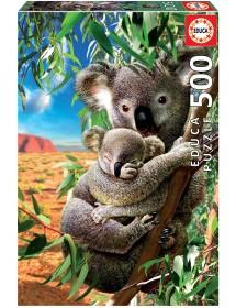 Puzzle 500 Peças - Koala e a Sua Cria