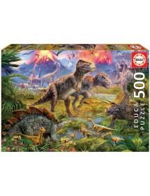 Puzzle 500 Peças - Encontro Dinossauros