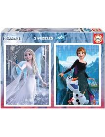 Puzzle Duplo 500 Peças - Frozen II