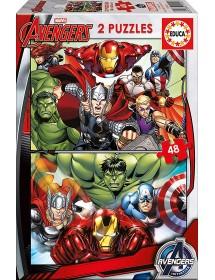 Puzzle Duplo 48 Peças - Avengers