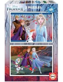 Puzzle Duplo 48 Peças - Frozen II