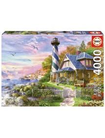 Puzzle 4000 Peças - Farol em Rock Bay