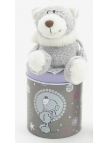 Caixa com Urso com Cachecol (7cm)