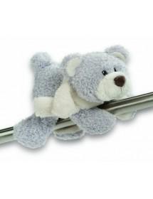 Magnético Urso com Cachecol Branco (12cm)