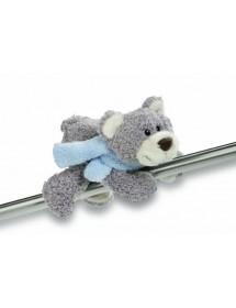 Magnético Urso com Cachecol Azul (12cm)