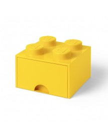 Caixa de Arrumação Com Gaveta Amarela - 4 Brick