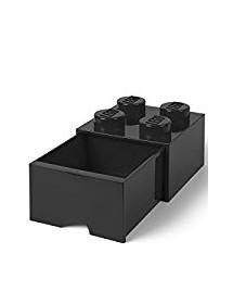 Caixa de Arrumação Com Gaveta Preta - 4 Brick