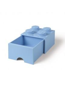 Caixa de Arrumação Com Gaveta Azul Clara - 4 Brick