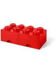 Caixa de Arrumação Com Gaveta Vermelha - 8 Brick