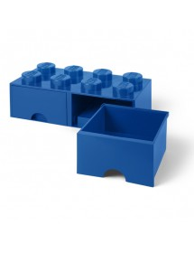Caixa de Arrumação Com Gaveta Azul - 8 Brick