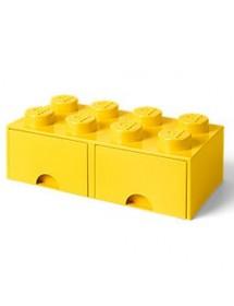 Caixa de Arrumação Com Gaveta Amarela - 8 Brick