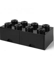 Caixa de Arrumação Com Gaveta Preta - 8 Brick