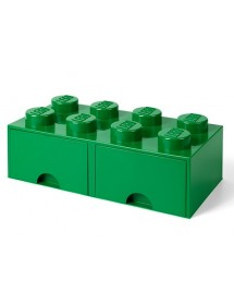 Caixa de Arrumação Com Gaveta Verde - 8 Brick