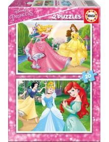 Puzzle Duplo 20 Peças - Princesas Disney